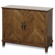 WESTON CHEST  36in w. X 30in ht. X 16in d.  Solid Mango Wood Two Door Cabinet in a Bleached Wood F