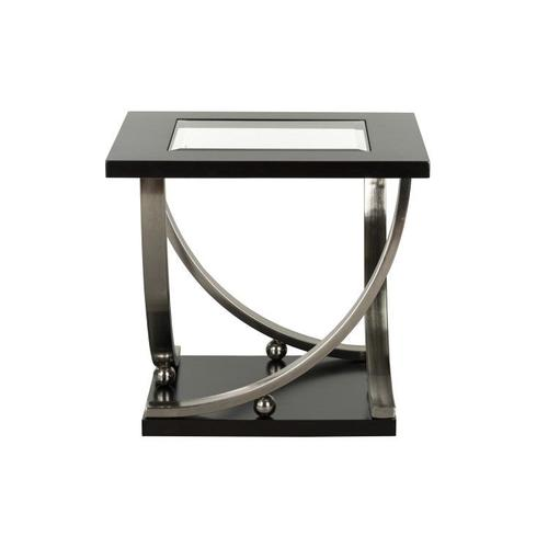 Standard Furniture - Melrose End Table with Casters, Brown