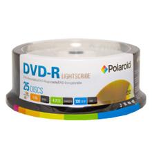 See Details - Polaroid Lightscribe DVD-R 4.7GB/120-Minute 16x Recordable DVD Disc PRDVDRLS25S, 25-Pack Spindle