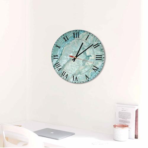 Grako Design - Blue Round Square Quartz Acrylic Wall Clock