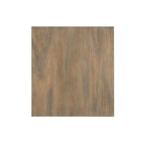 Standard Furniture - Wayne End Table with Metal Base, Brown