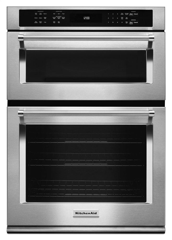 "Kitchenaid30"" Combination Wall Oven With Even-Heat™ True Convection (Lower Oven) - Stainless Steel"