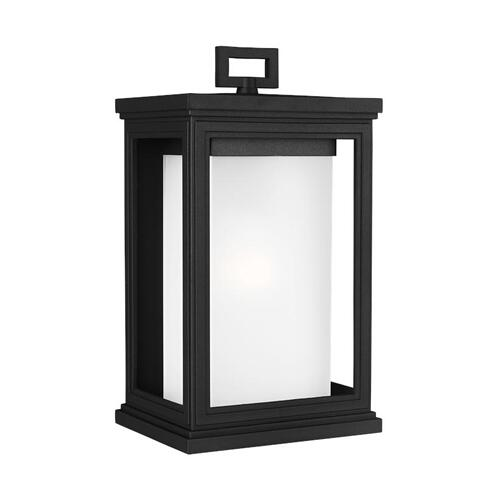 Roscoe Medium Lantern Textured Black