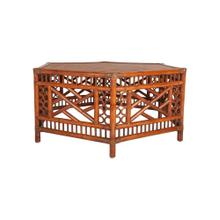 Octagon rattan coffee table (42 X 36 X 18.5)- antique brown
