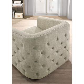Smartbuy Swivel Barrel Accent Chair