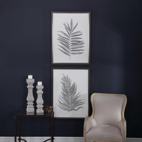 Uttermost - Silver Ferns Framed Prints, S/2