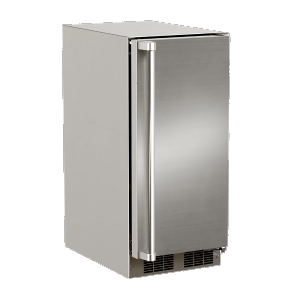 Marvel15-In Outdoor Built-In Clear Ice Machine For Gravity Drain Applications with Door Style - Stainless Steel