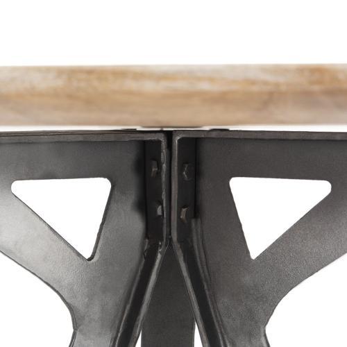 Axel Tripod Pub Table - Grey Wash / Black
