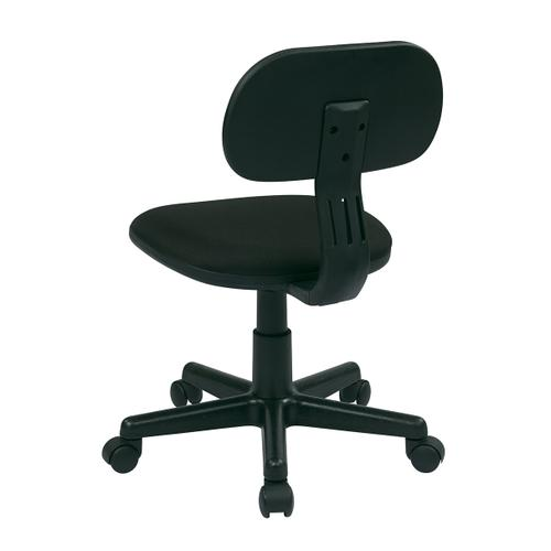 Student Task Chair In Black Fabric