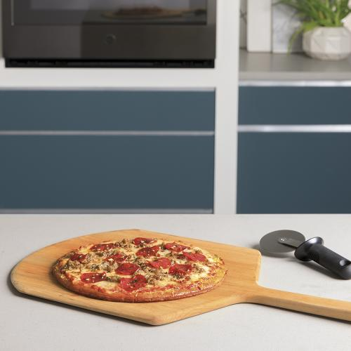 """GE Profile 30"""" Built-In Convection Single Wall Oven Black Stainless Steel - PTS9000BNTS"""