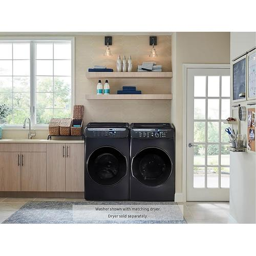 5.5 cu. ft. Smart Washer with FlexWash™ in Black Stainless Steel