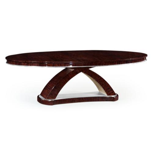 "96"" Black Eucalyptus Oval Dining Table"