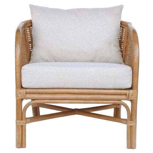 Ferrara Rattan Accent Arm Chair, Canary Brown