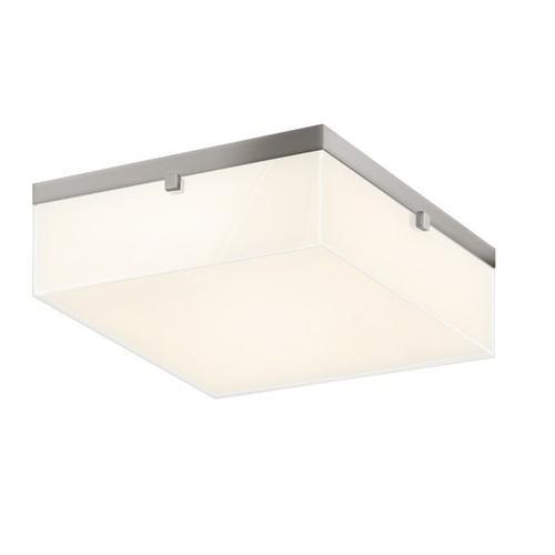 "Sonneman - A Way of Light - Parallel LED Flush Mount [Size=15"", Color/Finish=Satin Nickel]"
