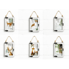 Woodland Christmas Mini Window Ornaments (12 pc. ppk.)