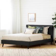 Modern Upholstered Platform Bed and Headboard - 60''