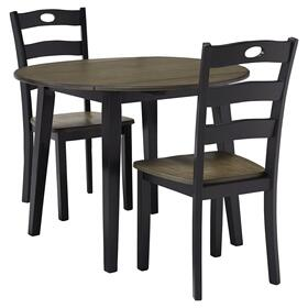 Froshburg Table & 2 Chairs Grayish Brown/Black