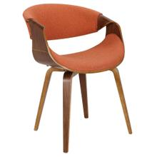 Curvo Chair - Walnut Wood, Orange Fabric