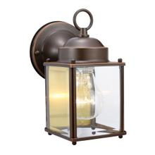 See Details - Coach Oil-Rubbed Bronze Outdoor Wall-Mount Downlight Sconce #506576