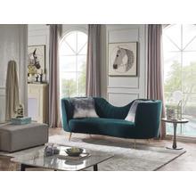 Divani Casa Loretta Modern Green Velvet Sofa