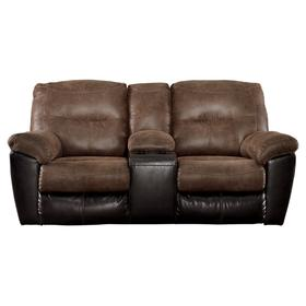See Details - Follett Reclining Loveseat With Console