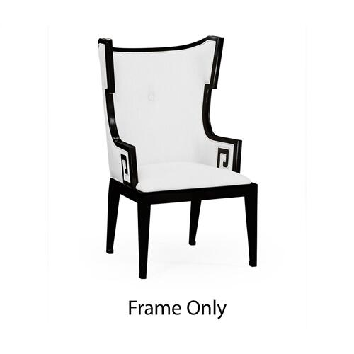 Greek Key Design Biedermeier Black Armchair Only Frame