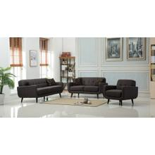 Modibella Contemporary 3PC Living Room Sofa Set, Sofa Loveseat and Chair, Taupe