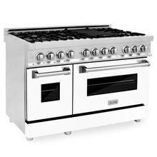 """See Details - ZLINE 48"""" Professional Dual Fuel Range in Stainless Steel with Color Door Options (RA48) [Color: White Matte]"""