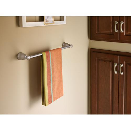 "Traditional Brushed nickel 24"" towel bar"
