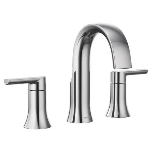 Doux chrome two-handle bathroom faucet