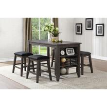 See Details - 5pc Counter Height Table Dining Set