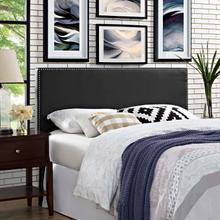 View Product - Phoebe Queen Upholstered Vinyl Headboard in Black