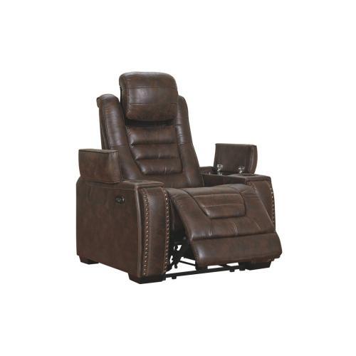 Game Zone PWR Recliner/ADJ Headrest Bark