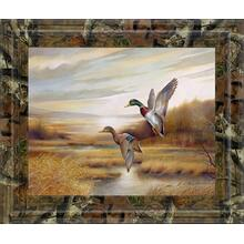 """Mallards"" By Ruanne Manning And Mossy Oak Native Living Framed Print Wall Art"