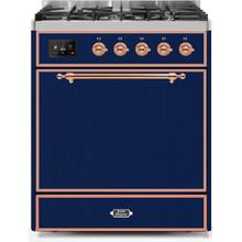 30 Inch Midnight Blue Dual Fuel Liquid Propane Freestanding Range