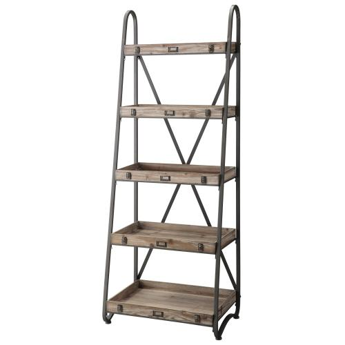 Crestview Collections - Voyager Metal and Wood Tiered Etagere