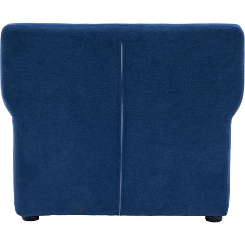 Hanover Outdoor Furniture - Critter Sitters 23-In. Navy Plush Children's Mini Chair with Piping - Furniture for Nursery, Bedroom, or Playroom, CSCHLDCHR-NVY