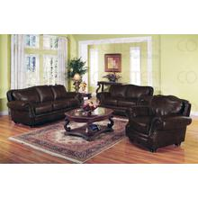 "BONDED LEATHER LOVESEAT 65-1/2""X36-1/2""X39""H"