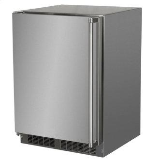24-In Outdoor Built-In Refrigerator With Door Storage And Maxstore Bin with Door Style - Stainless Steel, Door Swing - Left