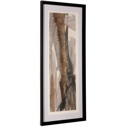 Style Craft - BRUSHSCAPE I  42in ht X 17in w  Framed Print Under Glass