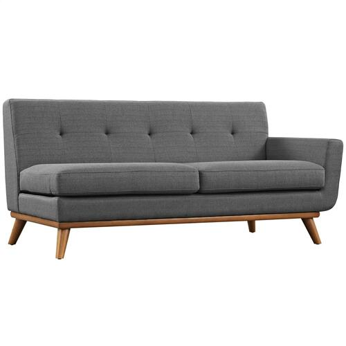 Engage 5 Piece Sectional Sofa in Gray