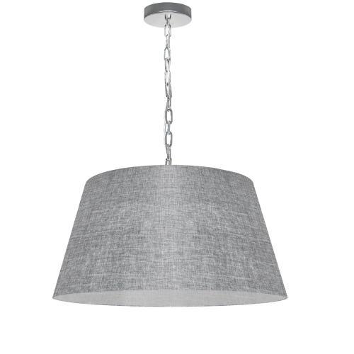 1lt Brynn Medium Pendant, Grey/clear Shade, PC
