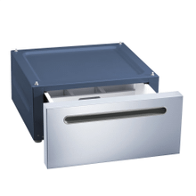 US 6008 - Plinth with drawer For ergonomic loading and unloading of the washing machine and dryer.