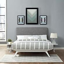 See Details - Tracy 3 Piece Full Bedroom Set in White Gray
