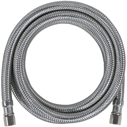 Braided Stainless Steel Ice Maker Connector, 6ft