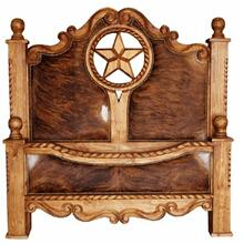 Queen Rope,Star & Cowhide Bed