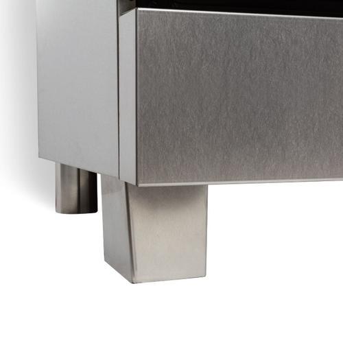 ZLINE 36 in. Professional Dual Fuel Range in DuraSnow® Stainless Steel with White Matte Door (RAS-WM-36)