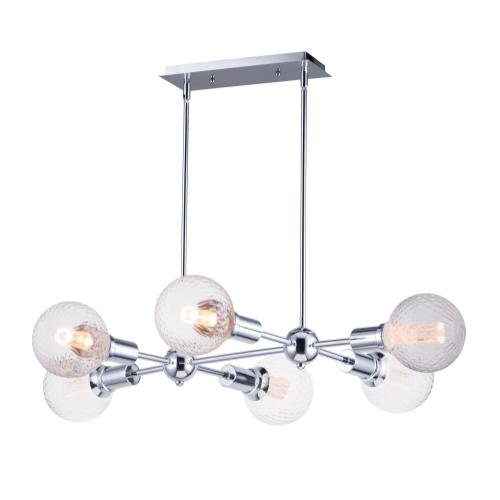 Molecule 6-Light Pendant with G40 PR LED Bulbs