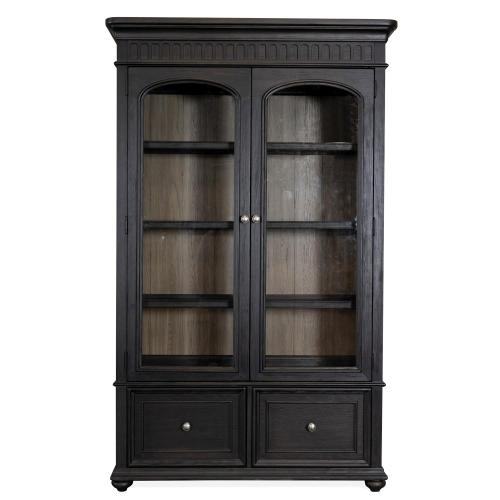 Regency - Bookcase File - Antique Oak/matte Black Finish