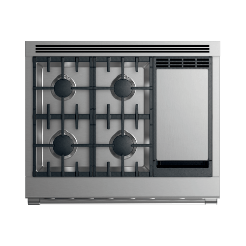 "Dual Fuel Range, 36"", 4 Burners with Griddle"